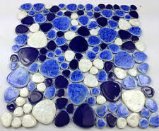 ceramic pebble mosaic tile kitchen backsplash shower decorative porcelain wall