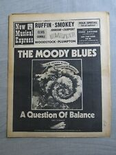NEW MUSICAL EXPRESS 15th August 1970 ~ Moody Blues ~ Folk ~ Woodstock!