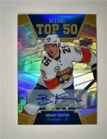 2019-20 Allure Top 50 Blue Auto #T50-17 Brady Keeper - Florida Panthers