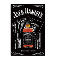 "Jack Daniels 8""x12"" Collectable Metal Plaque Tin Sign Bar Pub Man Cave Garage"