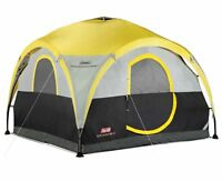 Coleman 2 for 1 100 Square Foot 4 Person Camping Dome Shelter Tent With Canopy