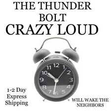 Alarm Clock LOUD LOUD FIRE ALARM THUNDER BOLT Crazy Loud Alarm Clock Sleep Apnea