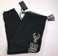 UNK Womens NBA Size XL Black Milwaukee Bucks Joggers Sweatpants New with Tags