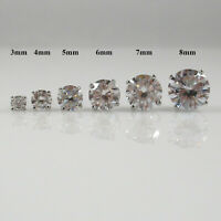 925 Sterling Silver Stud Earrings with Diamonique CZ, Screwback