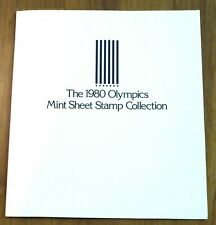 1980 Lake Placid Winter Olympics Full Mint Sheet Stamp Collection: 8 Countries