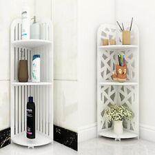 3 Tier Corner Cabinet Shower Caddy Bathroom Storage Rack Shelf Organiser White