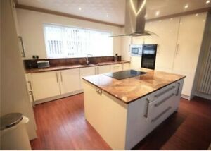 Large Pre-owned Kitchen With Granite Worktop, Island and Matching Table & Chairs