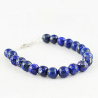 100.50 Cts Earth Mined Untreated Blue Lapis Lazuli Round Beads Bracelet (RS)