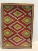 "Glass Geometric Small Serving Tray by Michaels New In Package 8 1/2""x 5 3/4"""