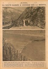 Alpini Fil de fer barbelé Alpes Barrage de la Brenta  WWI 1917 ILLUSTRATION