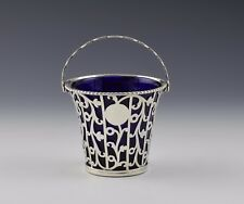 Early George III Pierced Openwork Silver Cream Pail London 1769
