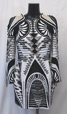 H&M Balmain Limited Edition Beaded Dress CB8 Black White Gold Size US:12 NWT