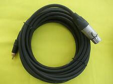 Phono plug to XLR socket lead 5mtrs