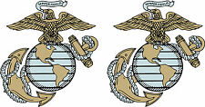 "2 LARGE (11""x13"") US Marine decals SEMPER FI Die Cut   Free Shipping"