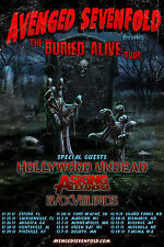 "AVENGED SEVENFOLD ""THE BURIED ALIVE TOUR"" POSTER 2011"