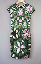 Ted Baker dress BNWT Friyo Bodycon natural kingdom geo print Size 1 UK 8