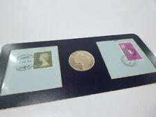 """Silber-Medaille """"First Supersonic Flight London-Bahrain mit 2 Ersttags-Briefmark"""
