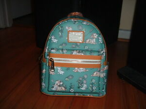 LOUNGEFLY BAMBI & THUMPER FLORAL MINI BACKPACK~ WITH TAGS~BRAND NEW~