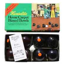 New Never Used Henselite Junior Biased Carpet Bowls Game - Vintage Boxed Set