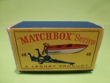 LESNEY MATCHBOX 48 ONLY BOX for TRAILER + REMOVABLE SPORTS BOAT - ONLY BOX