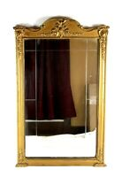 """Antique Wall Mirror Baroque Victorian Style Gold Gesso Ornate 36"""" x 22.5"""""""
