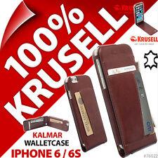 KRUSELL KALMAR Vrai Cuir Pliant Porte-feuille étui Folio Apple iPhone 6/6S