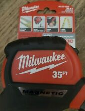 NEW Milwaukee 35ft Magnetic Tape Measure with 12' Standout # 48-22-0335
