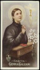"santino-holy card""""ediz. EB-n.2/142 S.GEMMA GALGANI"