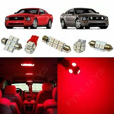 5x Red LED lights interior package kit for 2005-2009 Ford Mustang FM1R