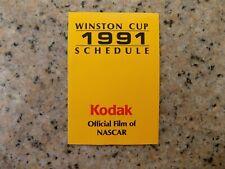 1991 KODAK Winston Cup Schedule pocket size & mint! Free s&h...
