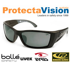 Eyres MICRO POLARISED Safety Glasses/Sunglasses - Black Frame - Med. Impact.