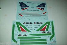 AIRFIX  BOEING 747  BRITISH AIRWAYS / ALITALIA   08174   1:144 scale decals