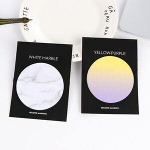 2packs/30pcs Novelty Marble Look Patterned Paper Office Memo Pads Bookmark