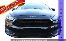GTG 2015 - 2017 Ford Focus 2PC Gloss Black Replacement Billet Grille Grill Kit