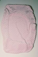 Minky Dot Pink Changing Table Pad Cover Diaper Changer Nursery Girl Soft Warm