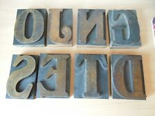 PICK ONE - Vintage Printers Block Letterpress Wooden Printing Letter 10cm Large