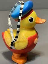 Rare Mary Engelbreit Resin Rubber Ducky Toy Ornament W/Cord Me Ink