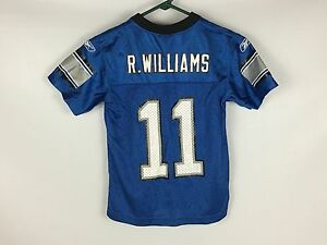 Kids Retro Vintage ROY WILLIAMS WR Detroit Lions Youth Jersey - Reebok Small (8)