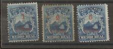 COSTA RICA 1881 set of 3 surch.
