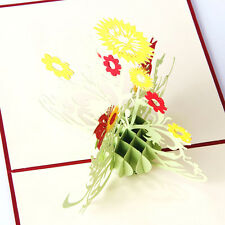 3D Up Sunflower Greeting Cards  Wedding Birthday Mother Day Thank You  giyt