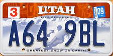 Utah LIFE ELEVATED SKI License Plate