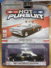 Green Light Collectibles Hot Pursuit Fargo Police 1967 Chevrolet Biscayne