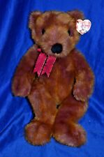 TY Classic 'Taffybeary' Beanie Babies Bear Plush Brown Purple Blend -1999 -