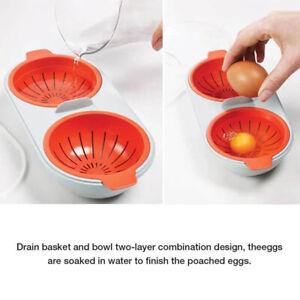 Draining Egg Boiler Egg Poacher Steamer Set Kitchen Egg Cooker Tools  KitcheBTA