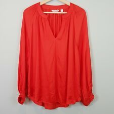 [ COUNTRY ROAD ] Womens Red Blouse Top | Size AU 16 or US 12