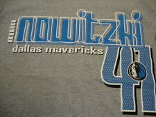 NBA Dallas Mavericks Basketball Fan Dirk Nowitzki #41 UNK Apparel Gray T Shirt L