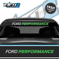 Ford Fiesta Sunstrip ST Ford Performance Zetec  Sun Strip Decal FREE P&P Green