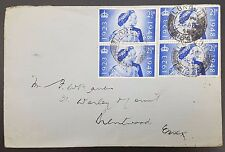 GB 1948 Argent mariage 2 x Paires sur plaine couverture à Brentwood, Essex