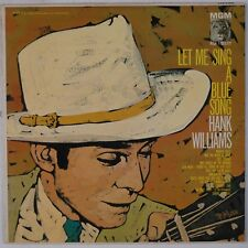 HANK WILLIAMS: Let Me Sing a Blue Song USA MGM Peter Max Cover LP