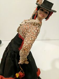 """Vintage Marin Chiclana 14"""" Spanish Dancer With Beautifully Detailed Dress"""